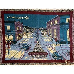 IT'S A WONDERFUL LIFE X-mas Blanket Bedford Falls